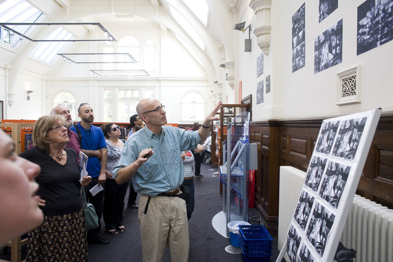 Peter Kyte during artist talk at Walthamstow Central Library