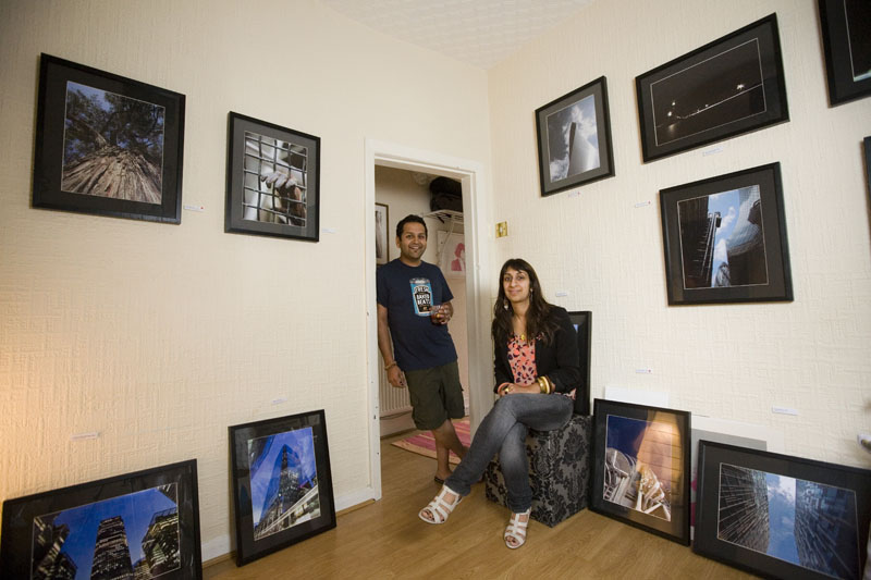 Has and Mandi - in their home / gallery