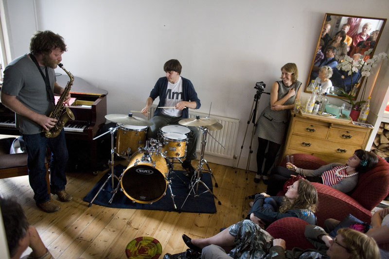 Jazz Band 'Tribunal', playing at concert in Sarah Nicolls Home