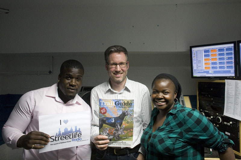 Streetlife Radio presenter Zawdie, me and radio producer Brenda
