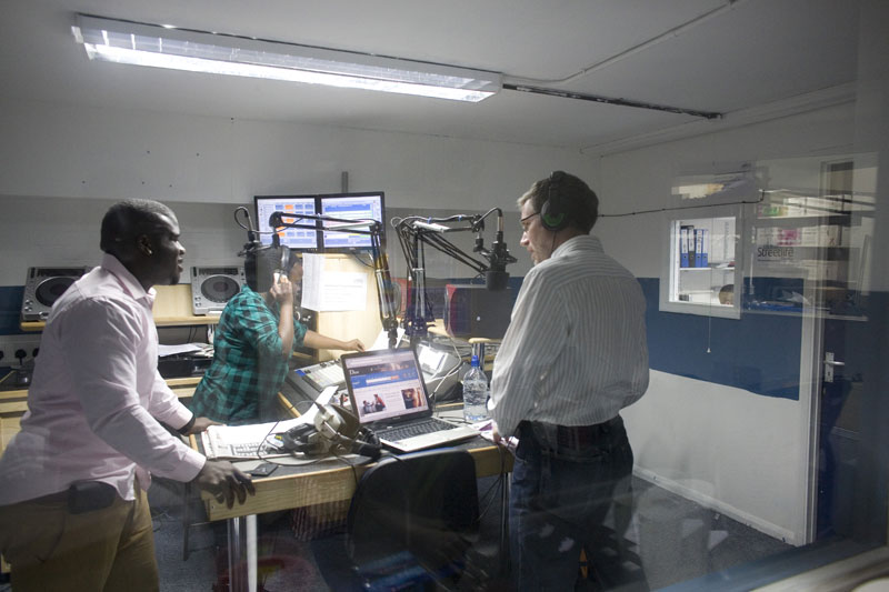 On air with Street Life Radio, the sound of Waltham Forest