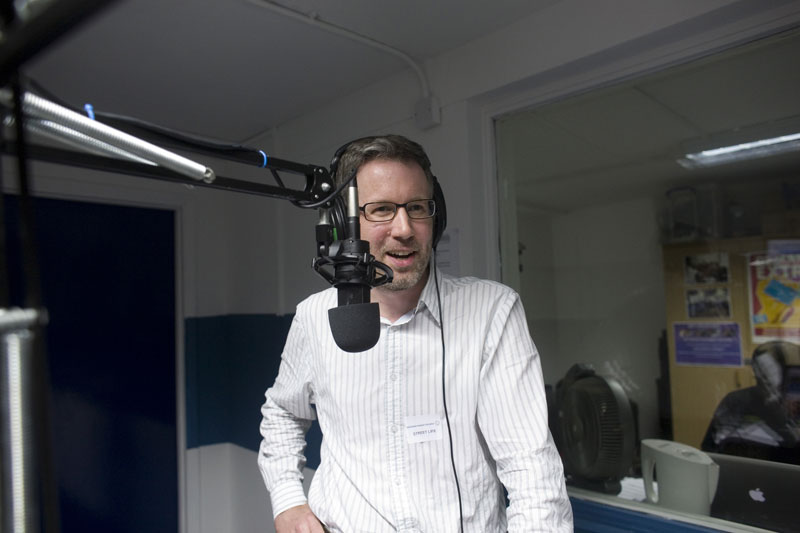 Answering questions about the E17 Art Trail on Street Life Radio