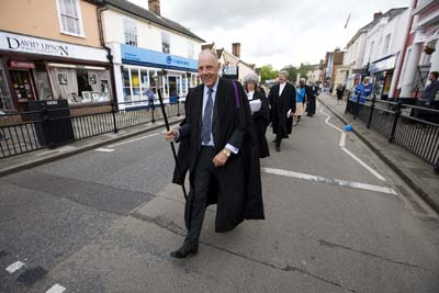 Flitch Trial Usher on Great Dunmow High Street