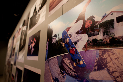 The Stoke photo exhibit included skate pictures going back to the 60's and 70's