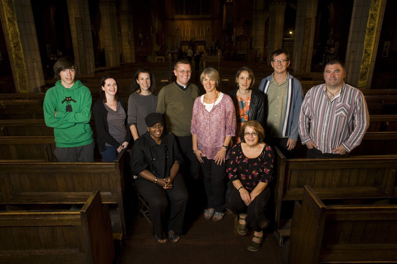 Josh, Anna, Louise, Cinthia, Stephen, Rebecca, Kirsten, Lorraine, Paul and Sean at St Barnabas Church