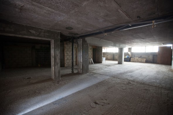 Once the shop was cleared, the lease was signed and the planning permission in place the building work could begin