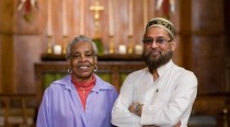 Elaine and Iqbal, in St Barnabas Church during the 2011 Inter-Faith Friendship Pilgrimage