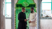 Father Stephen Saxby of St Barnabas Church and Imam Junaid Alam Qadri of the Jamia Masjid Mosque