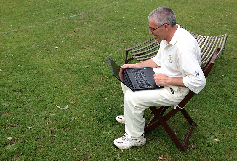 """Why did you head-but the stumps Don?"" ""I'll have a look at the data and let you know."""